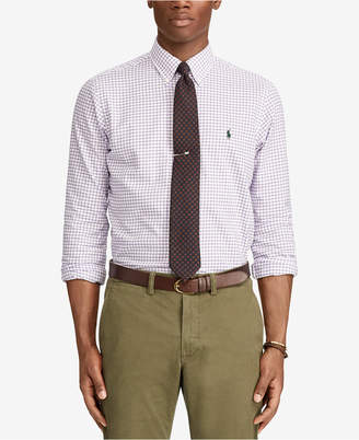 Polo Ralph Lauren Men Classic-Fit Checked Twill Shirt