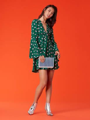 Diane von Furstenberg Tie Front Mini Dress