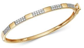 Bloomingdale's Diamond Station Bangle in 14K Yellow Gold, 1.0 ct. t.w. - 100% Exclusive