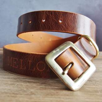 HÔRD Personalised Name Leather Belt