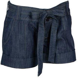 Cuffed Denim Short w/Belt