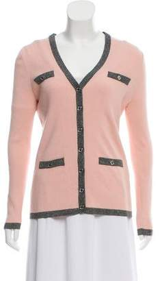 Karl Lagerfeld Button-up Knit Cardigan