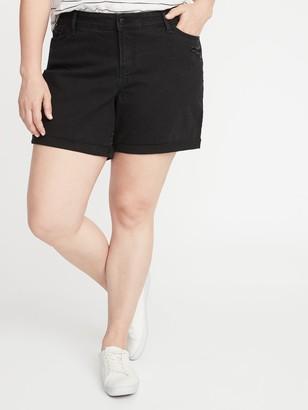 Old Navy Mid-Rise Distressed Plus-Size Boyfriend Jean Shorts - 5-Inch Inseam