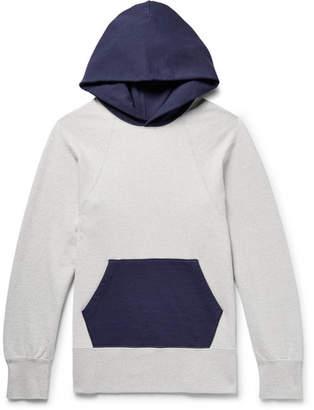 Visvim Colour-Block Mélange Loopback Cotton-Jersey Hoodie