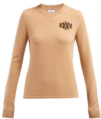 Barrie Thistle League Boucle Intarsia Cashmere Sweater - Womens - Camel