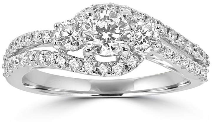 MODERN BRIDE Love Lives Forever Womens 1 CT. T.W. Round White Diamond 14K Gold Engagement Ring