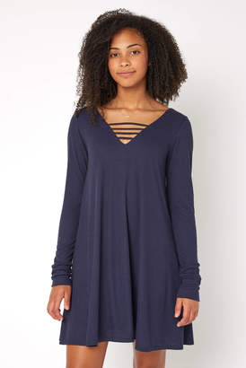 Neely Caged Casual Knit Dress