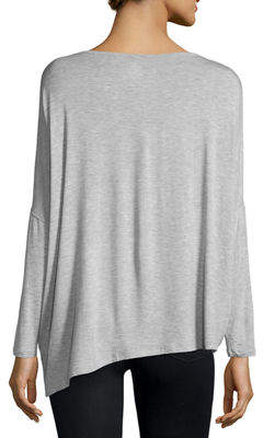 Neiman Marcus Majestic Paris For Long-Sleeve Asymmetric Tee