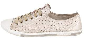 Prada Sport Perforated Leather Sneakers