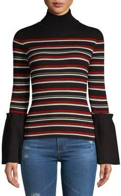 Design Lab Bell Sleeve Turtleneck Sweater