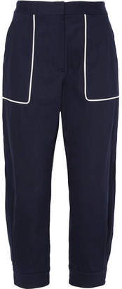 Miu Miu Cotton-blend Twill Pants - Navy