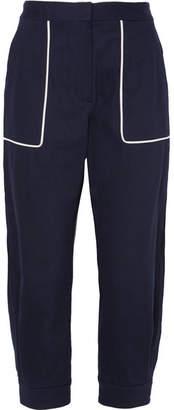 Cotton-blend Twill Pants - Navy