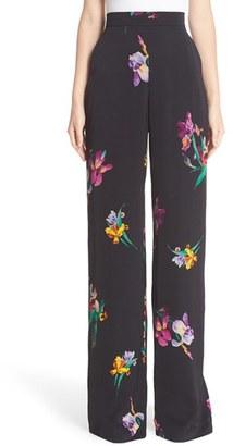 Women's Etro Bird & Floral Print Palazzo Pants $855 thestylecure.com