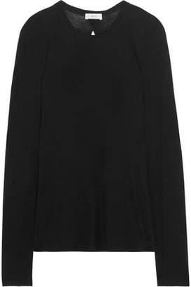 A.L.C. Natie Cutout Slub Cotton And Cashmere-Blend Top