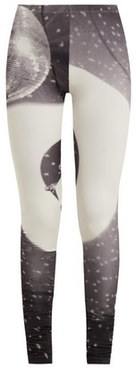 MM6 MAISON MARGIELA Disco Print Leggings - Womens - Grey Multi