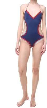 Kiini Tasmin Mono Maillot Croquet-trimmed Swimsuit