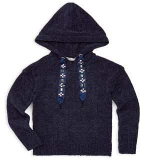 Pinc Premium Girl's Knit Hoodie