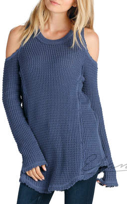 Elan International Cold Shoulder Crew Sweater