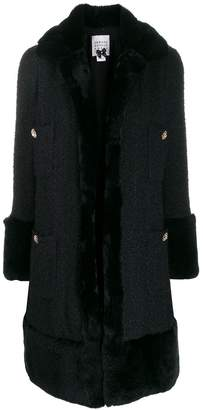 Edward Achour Paris single-breasted fitted coat