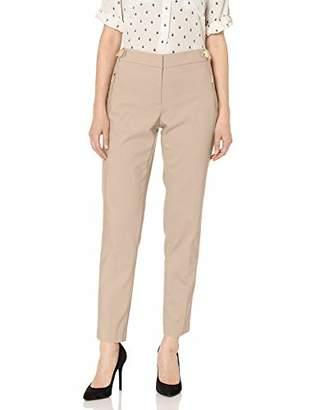 Calvin Klein Women's Button Straight Leg Pant