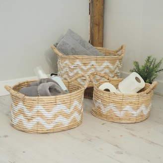 Za Za Homes Wicker Baskets Set Of Three