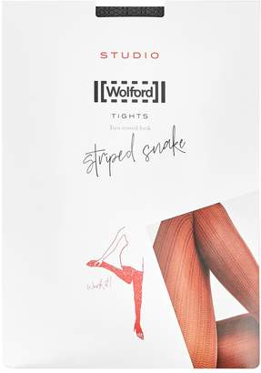 Wolford Striped Snake Grey Tights