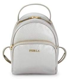 Furla Zip-Around Leather Backpack