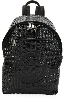 Versace Zaino Men's Quilted-Nylon Backpack