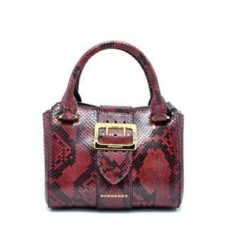 ac794fab6569 Burberry Burgundy Python Handbag