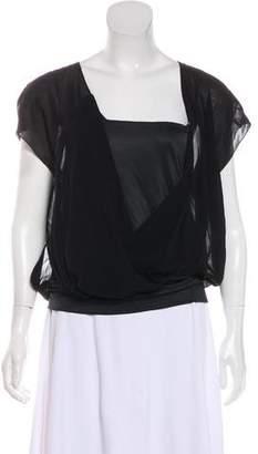 Barbara Bui Short Sleeve V-Neck Blouse w/ Tags