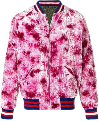 Gucci dragon Appliquéd Bomber Jacket