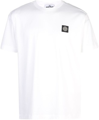 Stone Island embroidered logo T-shirt