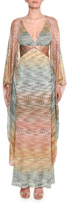 Missoni Metallic-Degrade Knit Batwing Caftan