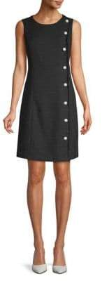 Twilled Pearl Shift Dress