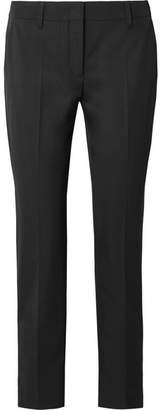 Prada Cropped Crepe Skinny Pants - Black