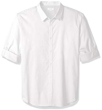 Calvin Klein Men's Stretch Cotton Button Down Shirt