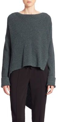 Brochu Walker Thandee Asymmetrical Hem Sweater $368 thestylecure.com