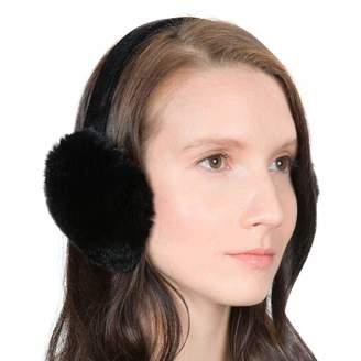 OBURLA Fur Earmuffs | Luxurious Real Fur Over Ear Warmers with Headband (, Rex Rabbit Fur)