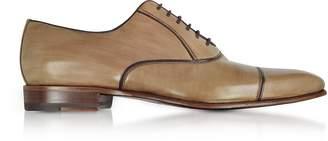 Fratelli Borgioli Cenere Brown Leather Oxford Shoes