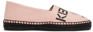 Kenzo Pink Canvas Logo Espadrilles $180 thestylecure.com