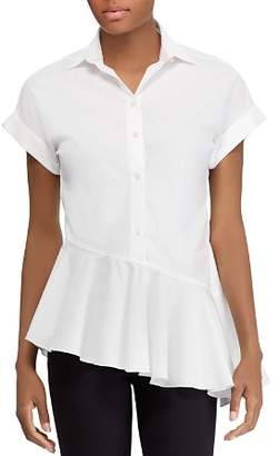Ralph Lauren Short-Sleeve Asymmetrical-Ruffle Shirt - 100% Exclusive