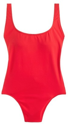 Women's J.crew Scoop Back Italian Matte One-Piece Swimsuit $98 thestylecure.com