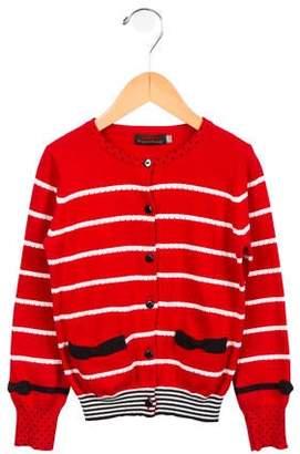 Catimini Girls' Striped Button-Up Cardigan