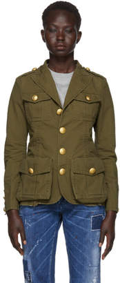 DSQUARED2 Green Ripstop Military Jacket