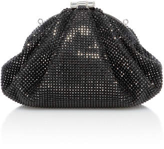 Judith Leiber Couture Enchanted Crystal-Embellished Satin Clutch