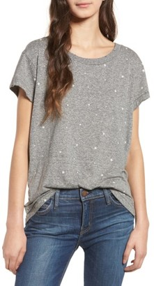 Women's Current/elliott The Crewneck Star Print Tee $128 thestylecure.com