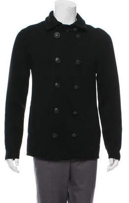 Vince Wool Double-Breasted Cardigan