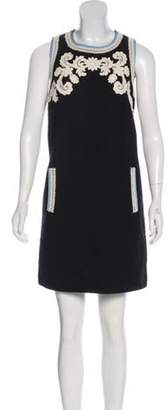 Andrew Gn Embroidered Mini Dress Black Embroidered Mini Dress