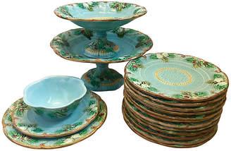 One Kings Lane Vintage 16-Pc Majolica Dinnerware Set