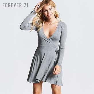 Forever 21 (フォーエバー 21) - Forever 21 カシュクールネックラップミニワンピース